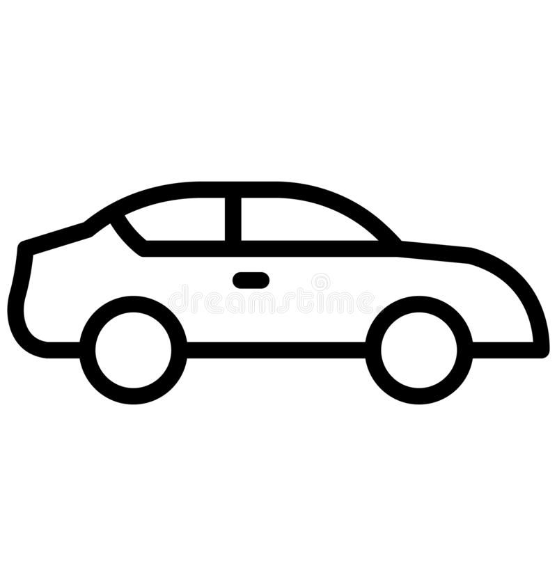 Cab Vector icon which can be easily modified or edit in any color. Transport Isolated Vector Icons Set that can be easily modified or edit royalty free illustration