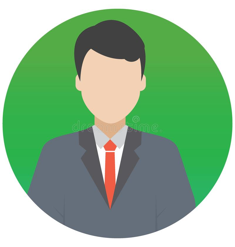 Financial Advisor Vector Illustration Icon which can Easily Modify or Edit royalty free illustration