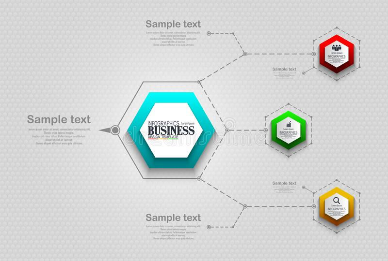 Infographics Business Template concept with 4 options royalty free stock image