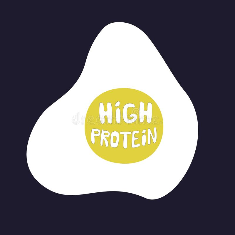 Low carb high protein. vector illustration