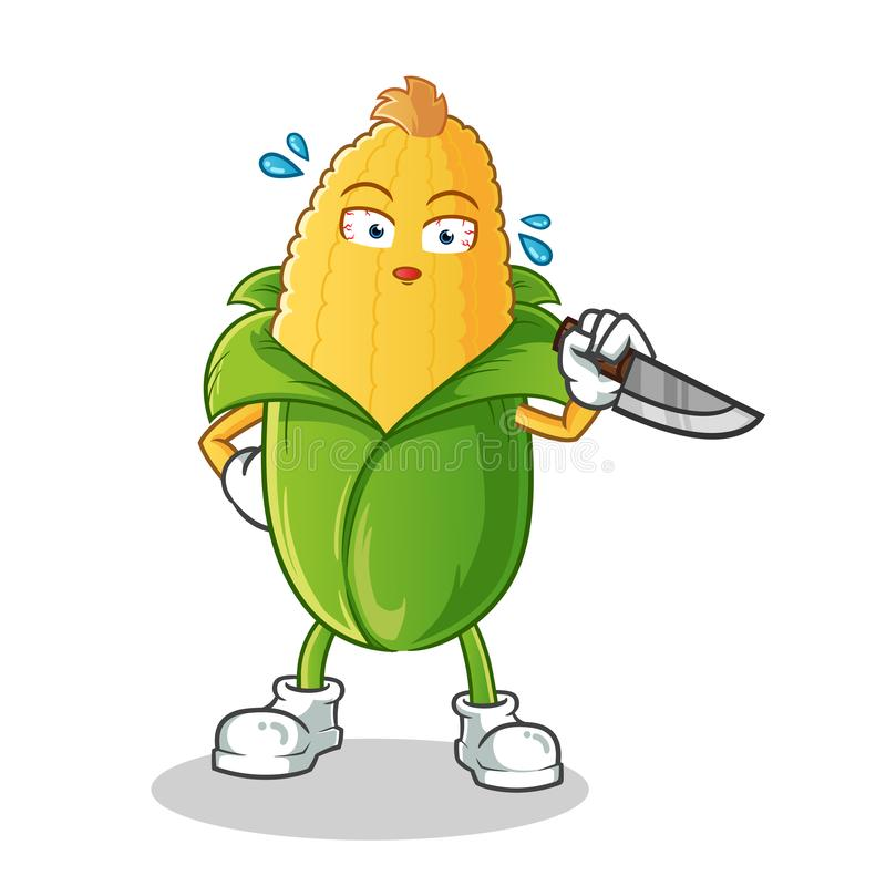 Corn killer mascot vector cartoon illustration royalty free illustration