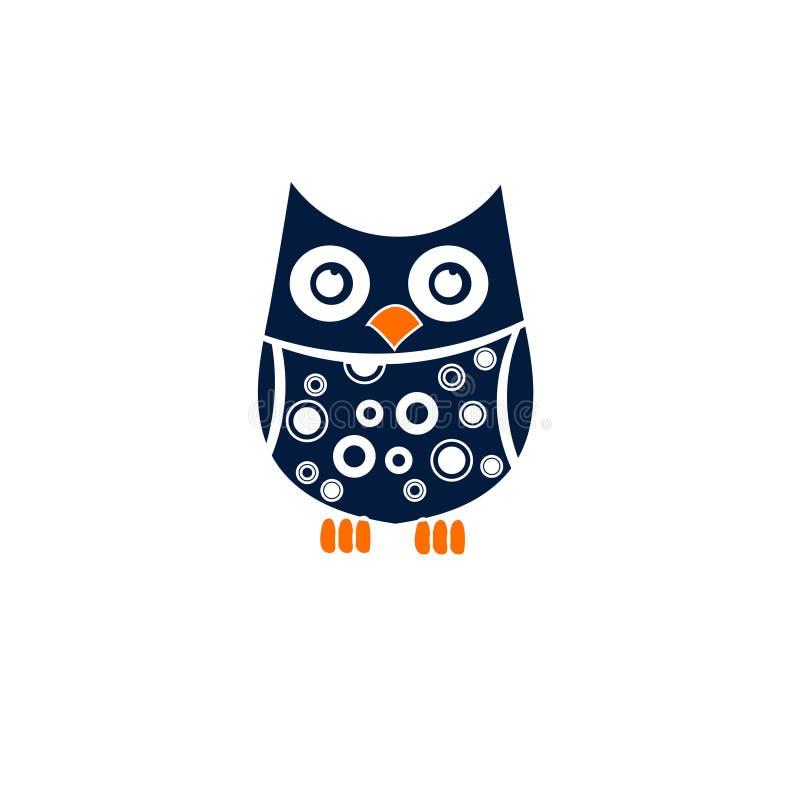 Creative blue owl illustration - Stock vector illustration stock illustration