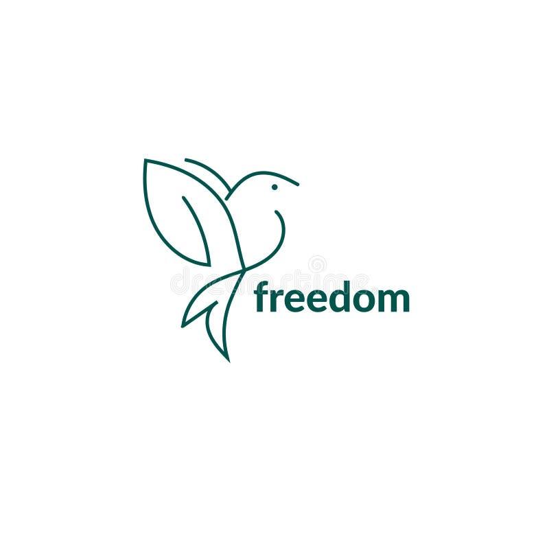 Freedom bird logo- Stock vector illustration royalty free illustration