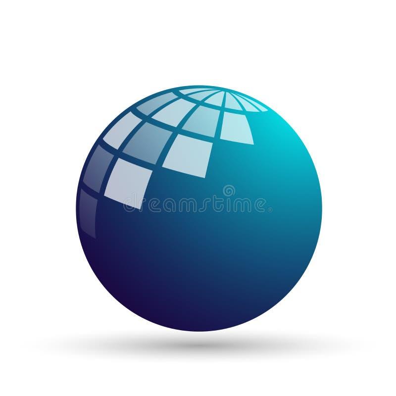 Globe world  logo concept symbol icon design vector on white background. Globe world and logo concept symbol icon design vector on white background. in ai 10 stock illustration
