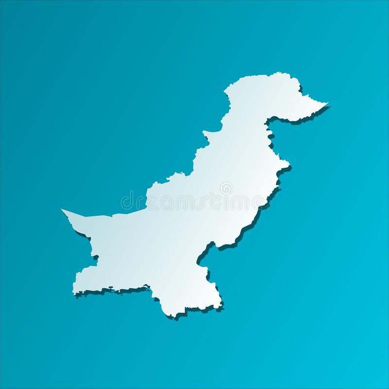 Vector isolated illustration icon with simplified map of Islamic Republic of Pakistan. stock illustration