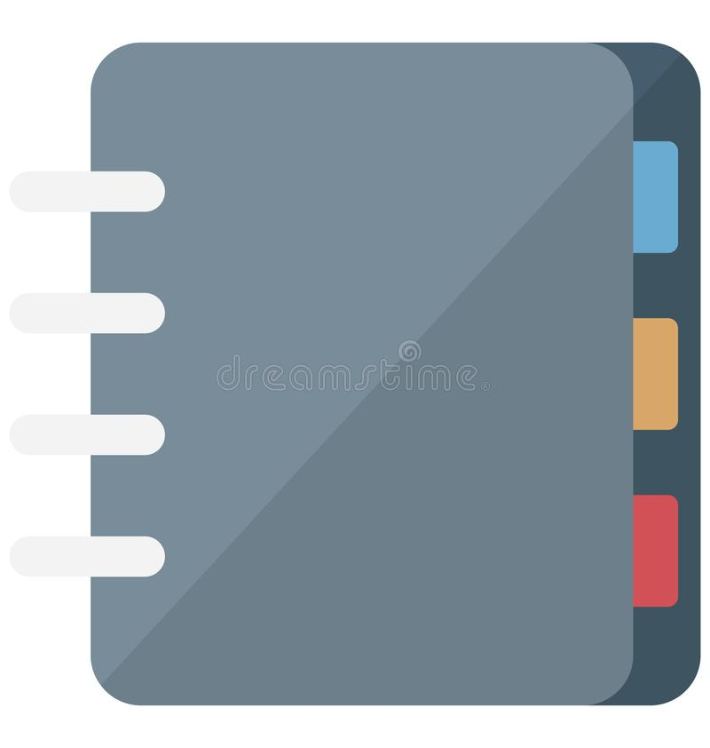 Address book Vector Icon which can easily modify or edit stock illustration