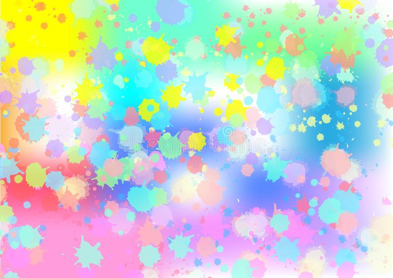 Abstract Vector Colorful Watercolor Spatters Background vector illustration