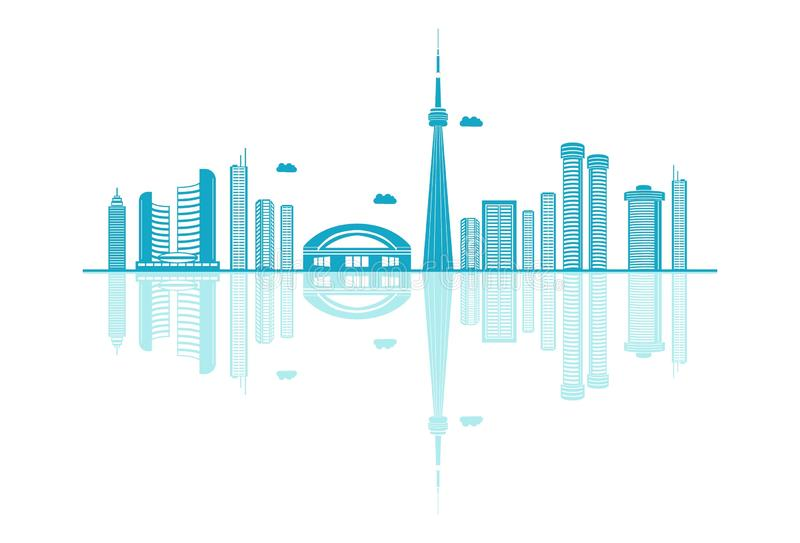 Vector cartoon Illustration of  Skyline. Vector cartoon Illustration of Canada Skyline. Isolated on white background vector illustration