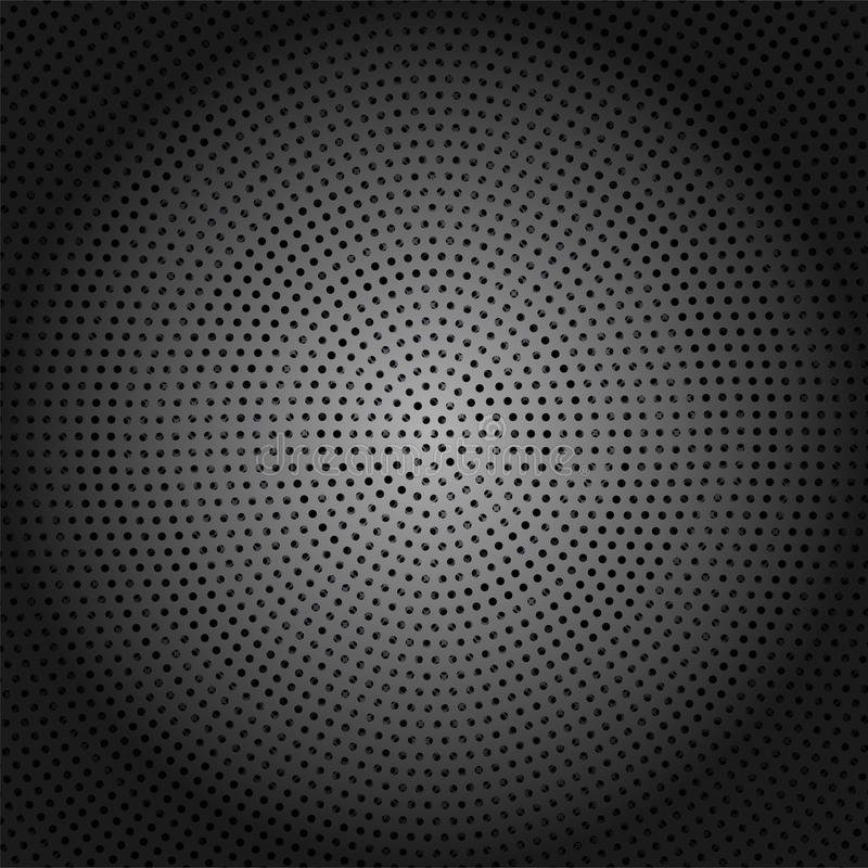 Abstract Dark Shiny Metallic Background with Dots Pattern stock illustration