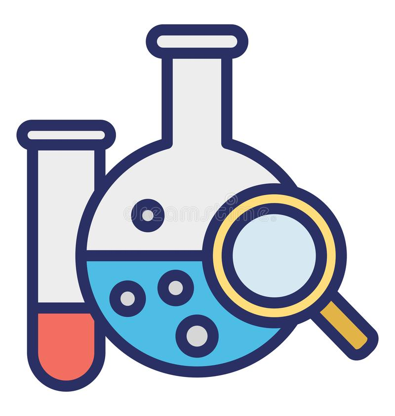 Chemical analysis Isolated Vector icon which can easily modify or edit royalty free illustration