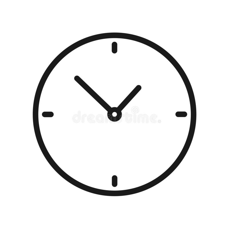 Clock icon royalty free illustration