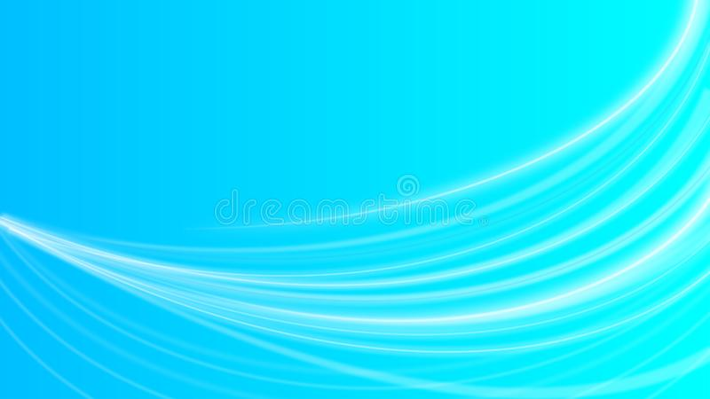 Abstract Shiny White Curves or Light Rays in Gradated Blue Background royalty free illustration
