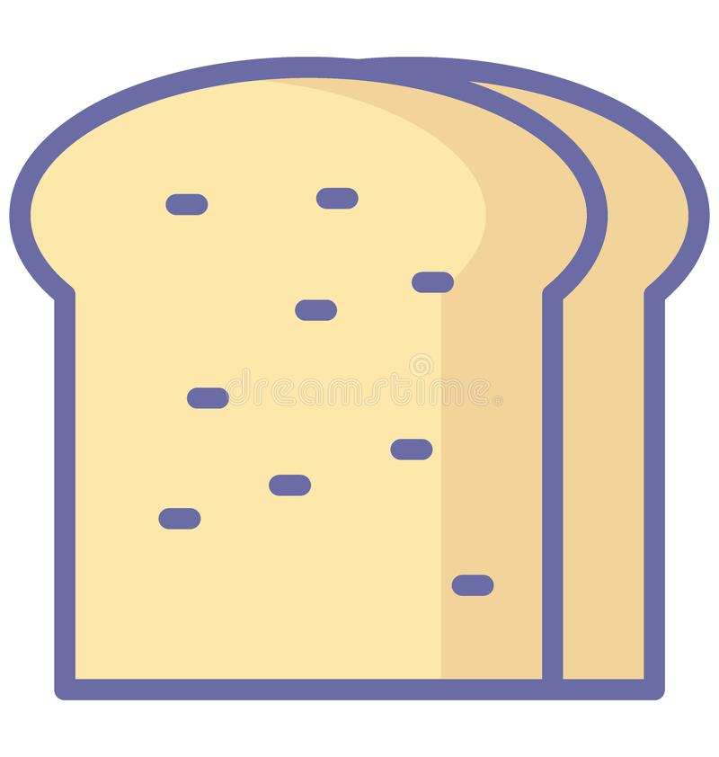 Bread Isolated Vector icon which can easily modify or edit Bread Isolated Vector icon which can easily modify or edit. Bread Isolated Vector icon which can royalty free illustration