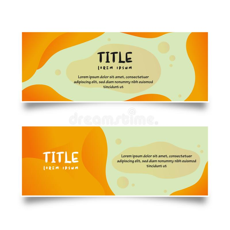 Abstract Liquid Banner Collection Template. Banner for business, marketing, information, and etc. Very useful to convey information royalty free illustration