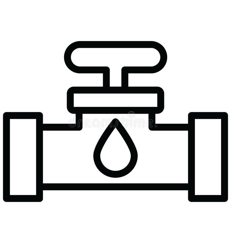 Faucet Isolated Vector Icon which can easily modify or edit Faucet Isolated Vector Icon which can easily modify or edit. Faucet Isolated Vector Icon which can royalty free illustration