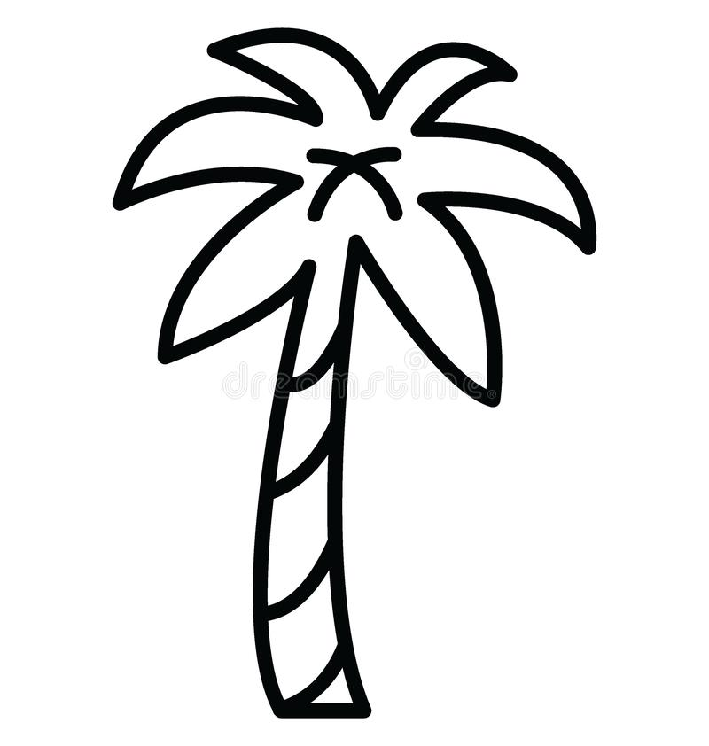 Palm Isolated Vector Icon which can easily modify or edit royalty free illustration