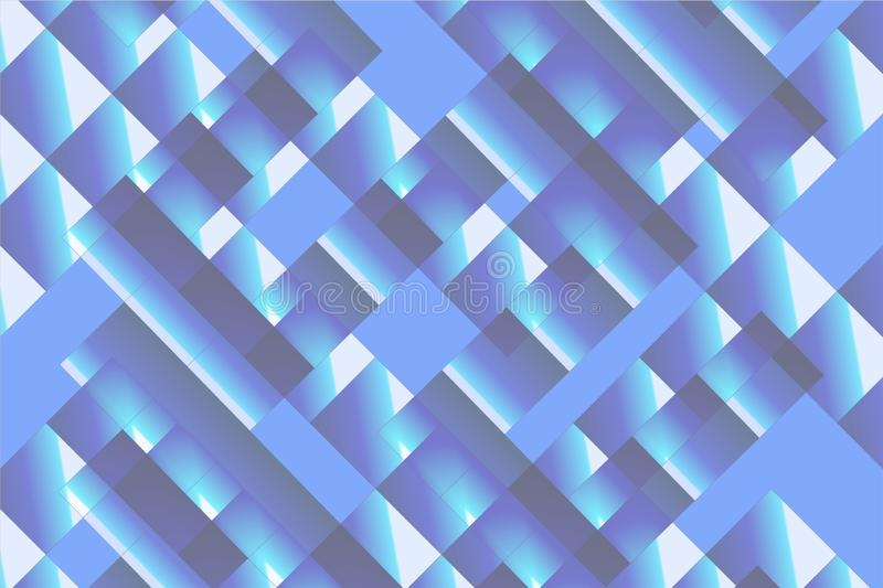 Abstract colored square texture background. Abstract colored black, blue and white square texture for background. Gradient design. Modern geometric rectangle royalty free illustration