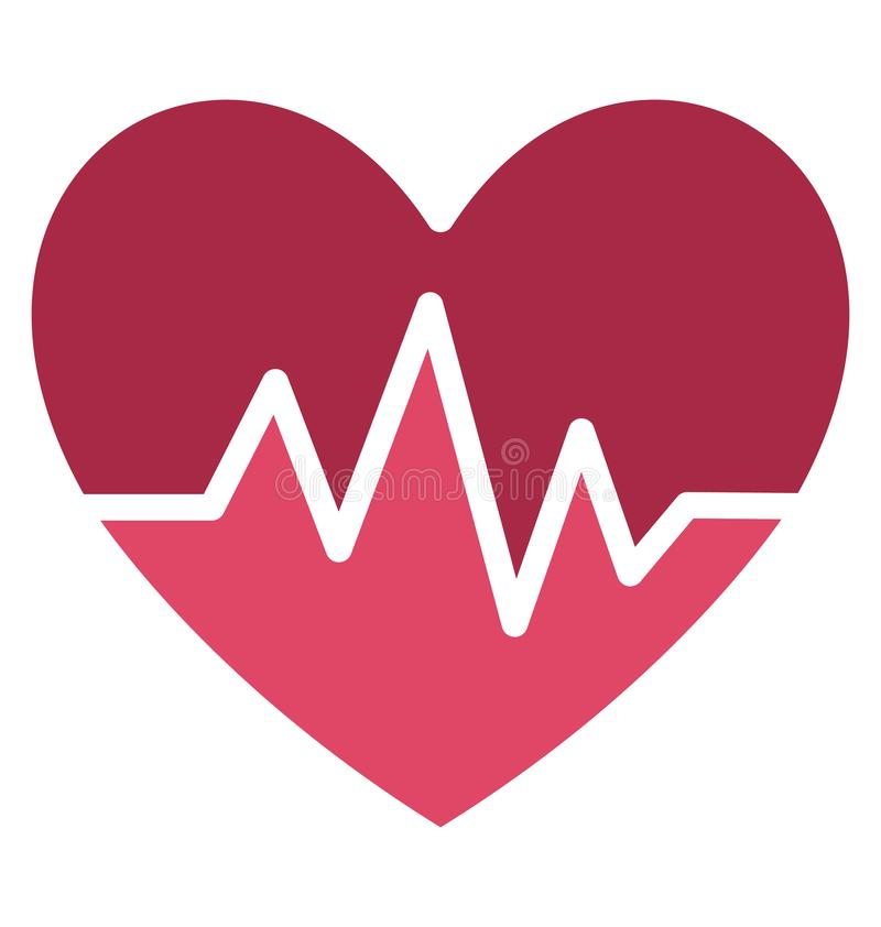 Heart rate Isolated Vector Icon which can easily modify or edit stock illustration
