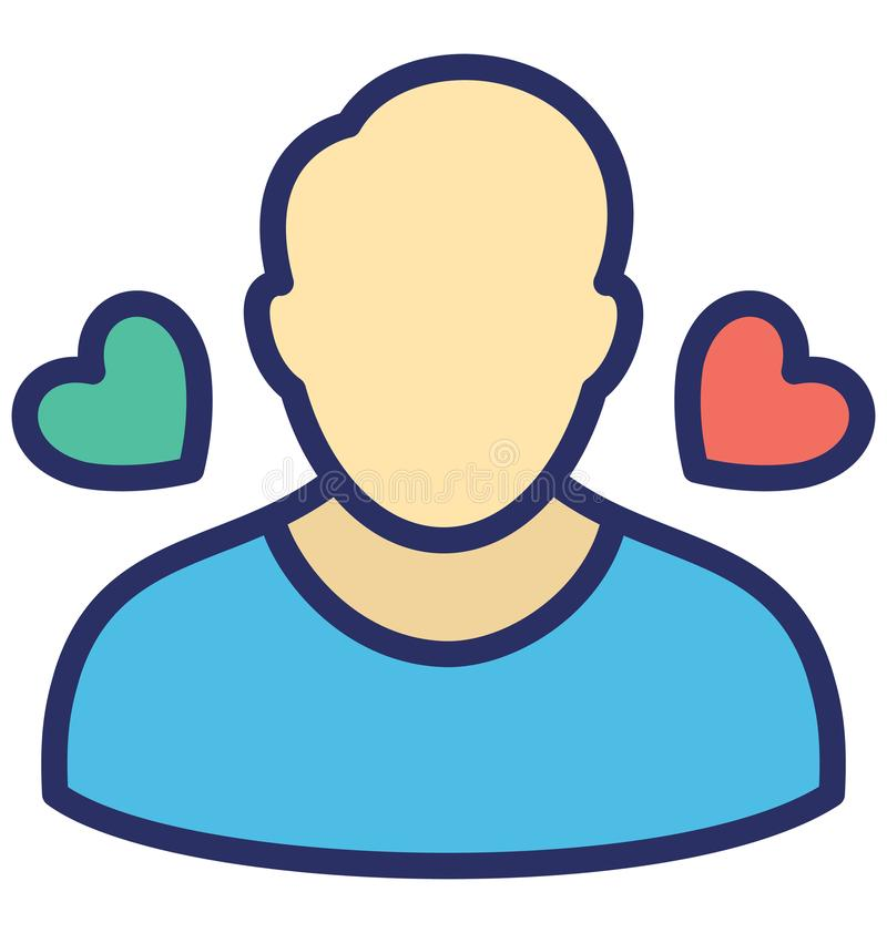 Feeling loved Isolated Vector Icon which can easily modify or edit stock illustration