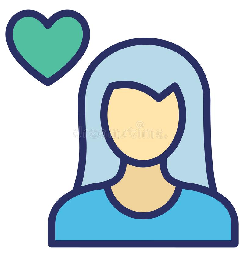 Feeling loved Isolated Vector Icon which can easily modify or edit royalty free illustration