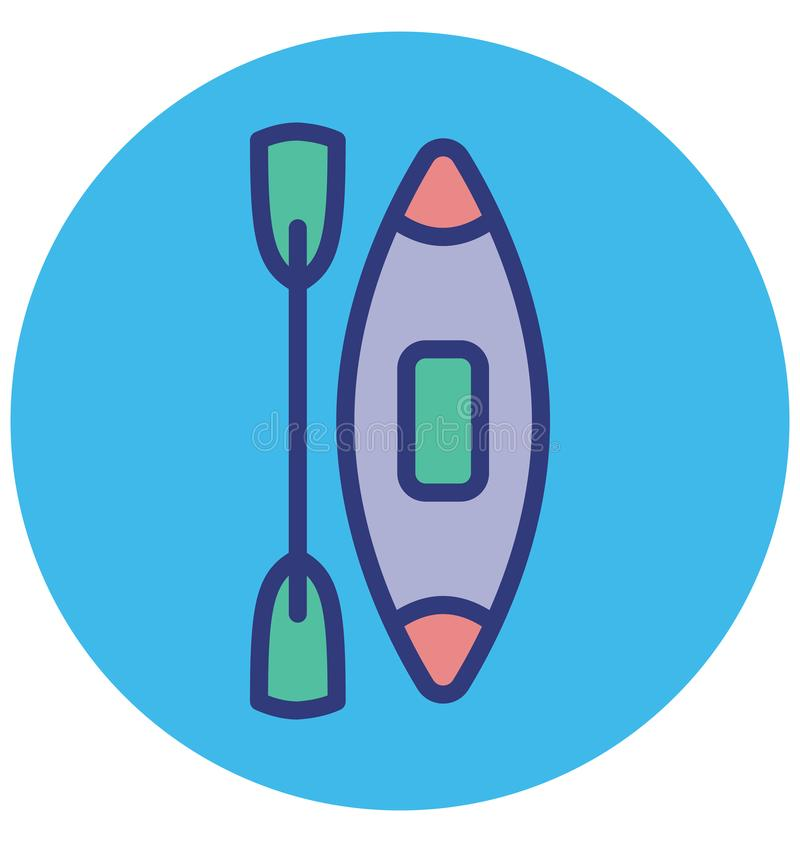 Boating Isolated Vector Icon which can easily modify or edit royalty free illustration