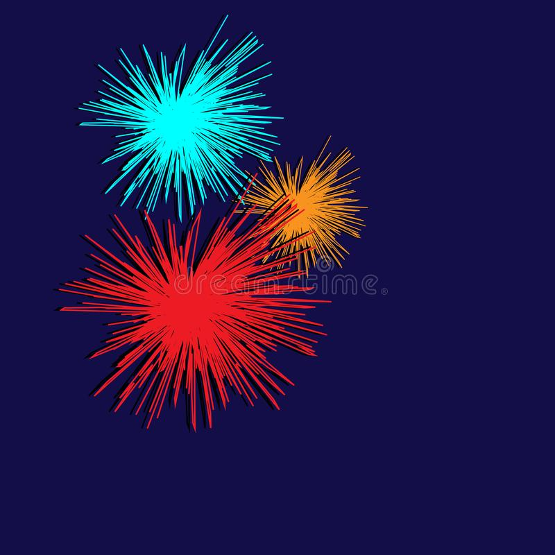 Fireworks, vector graphics stock illustration