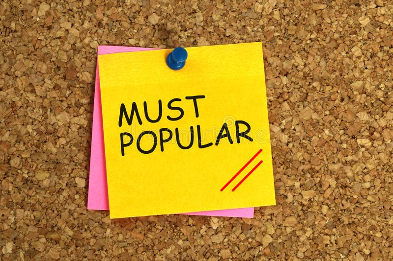 Most popular post-it. Most popular on yellow post-it royalty free illustration