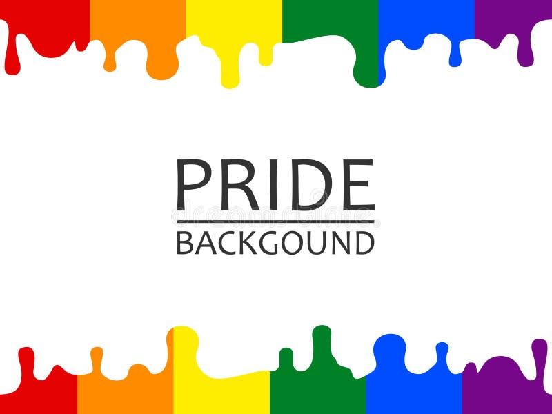 Vector illustration of LGBTQ pride rainbow dripping wallpaper vector illustration