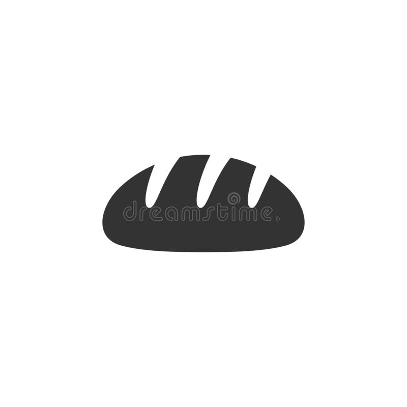 Bread loaf traditional style vector icon. vector illustration