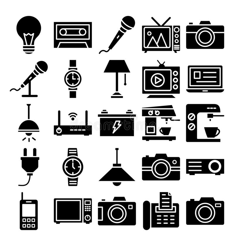 Electronics and Devices Isolated Vector icons Set which can easily modify or edit vector illustration