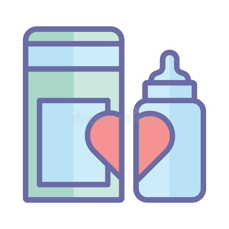Baby bottle, baby feeder Isolated Vector Icon which can easily modify or edit royalty free illustration