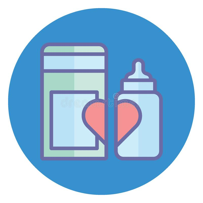 Baby bottle, baby feeder Isolated Vector Icon which can easily modify or edit Baby bottle, baby feeder Isolated Vector Icon which. Baby bottle, baby feeder stock illustration