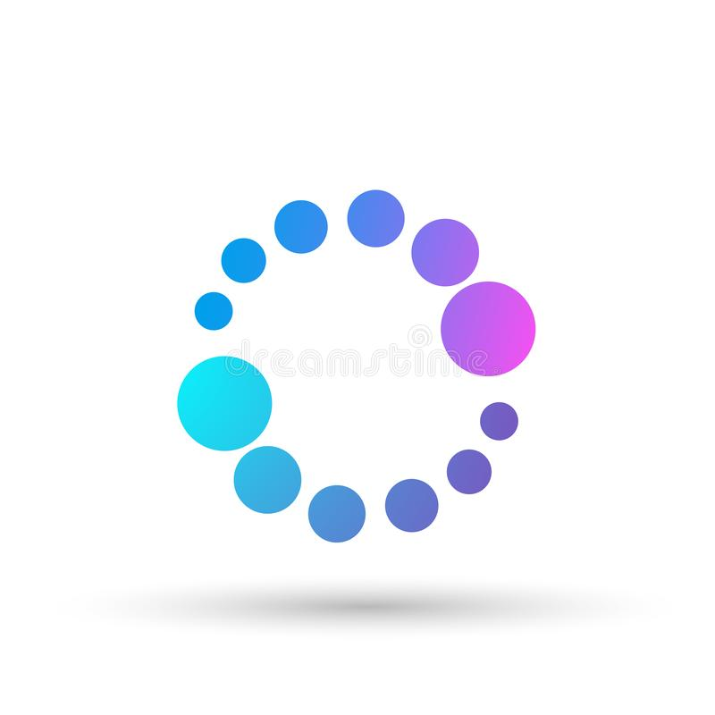 Bubble logo, colorful circle background logo for medicine, drugs health care concept logo on white background royalty free illustration