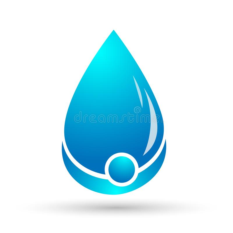Water drop save water globe people life care logo concept of water drop wellness symbol icon nature drops elements vector design. Water drop save globe  health stock illustration