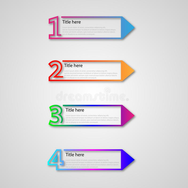 Infographics business with modern line. Simple of a infographics business with modern line. Thin line design with numbers 4 options or steps. - Vector stock illustration