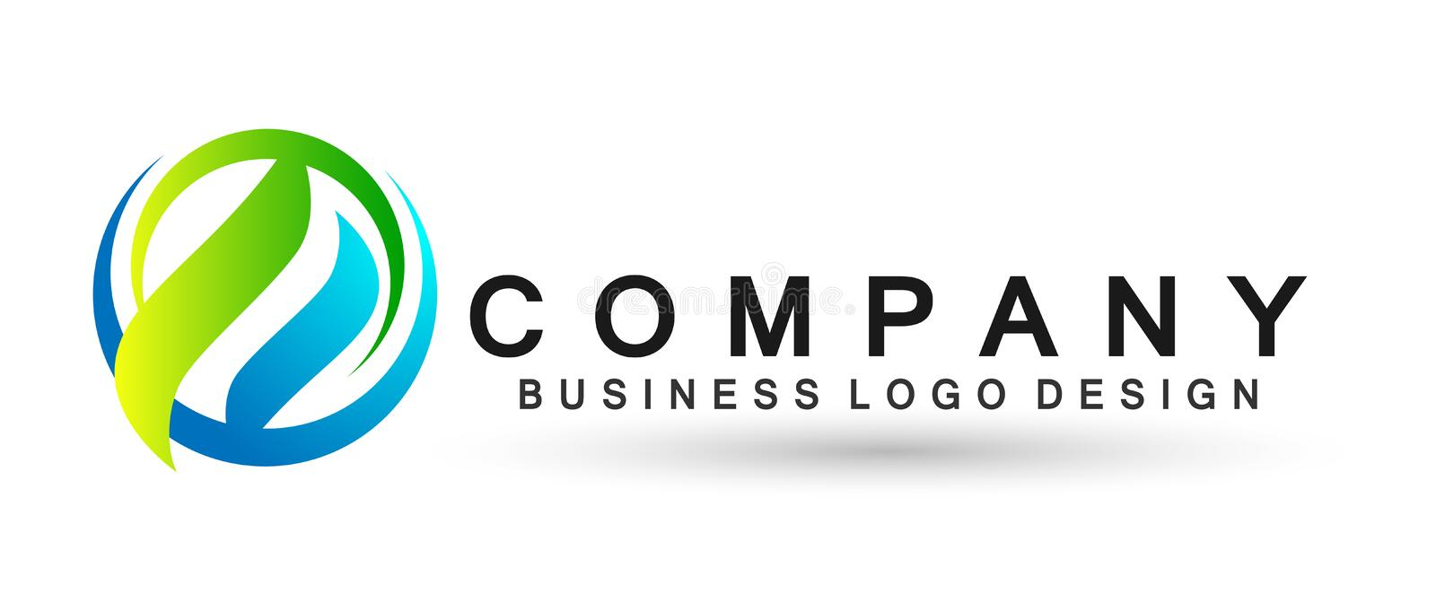 Globe Arrows shaped two direction focused on Corporate Invest Business Logo design. Financial Investment Logotype concept icon. Arrows circle shaped two vector illustration