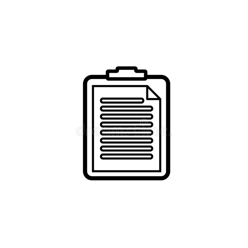 Black and white clipboard  icon. Clipboard  icon in black and white version. It can be a paste icon and task icon. Available in eps 10 royalty free illustration