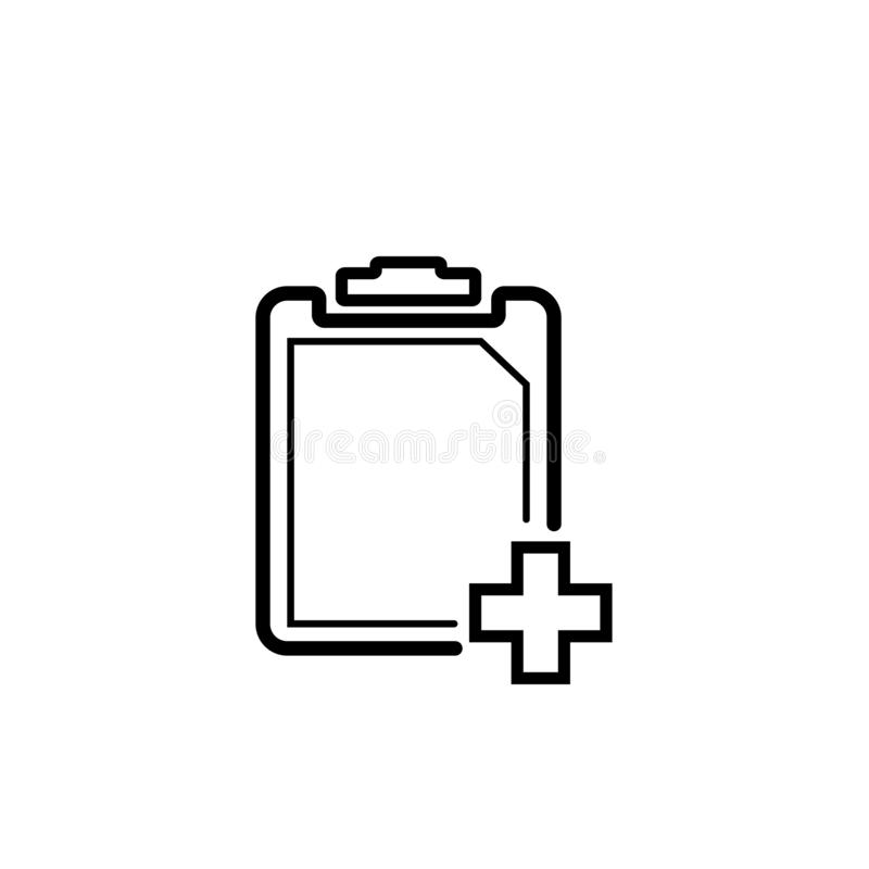 Black and white clipboard  icon. Clipboard  icon in black and white version. It can be a paste icon and task icon. Available in eps 10 vector illustration