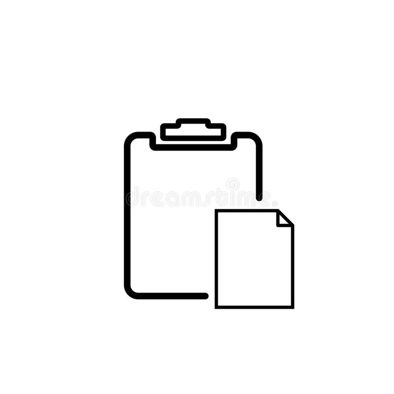 Black and white clipboard  icon royalty free illustration