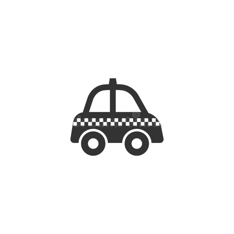 Taxi black isolated glyph icon. Cab pictogram vector sign, retro style stock illustration