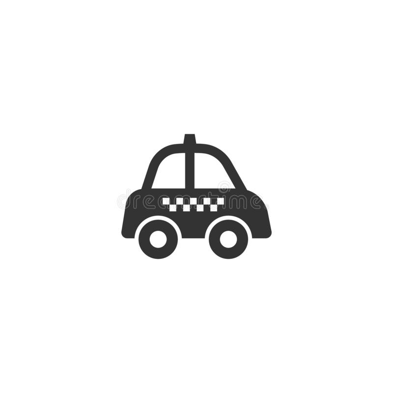 Taxi black isolated vector pictogram icon. Cab glyph sign, retro style vector illustration