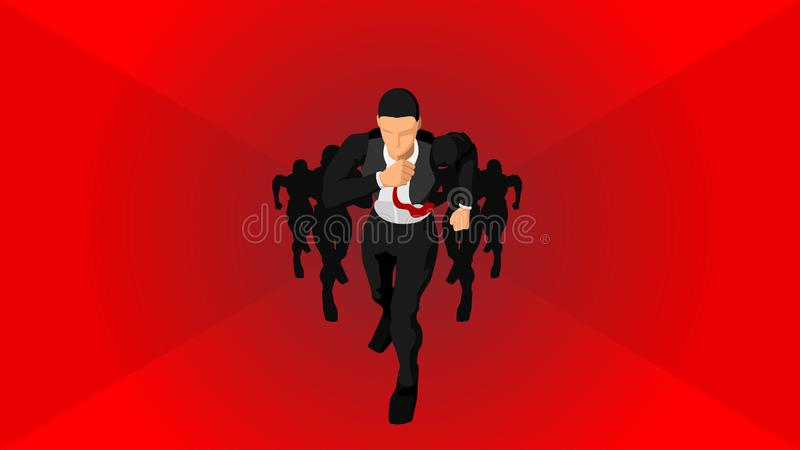 Illustration of business competition in the world. EPS 10 royalty free illustration