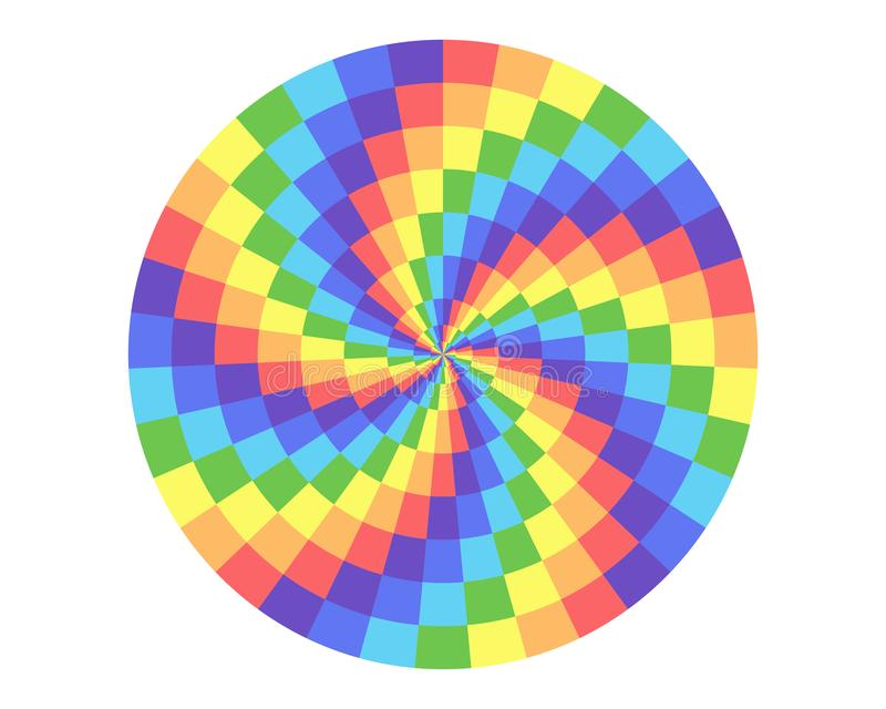 Rainbow square in circle shape elements for design royalty free illustration