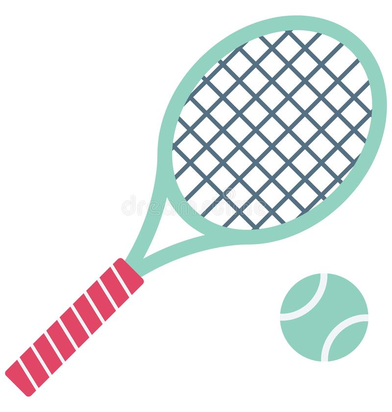 Tennis Racket Color Vector Icon which can easily modify or edit vector illustration