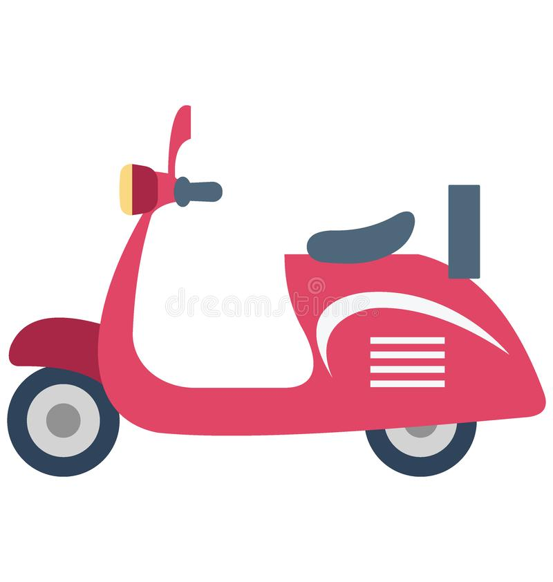 Vespa Color Vector Icon which can easily modify or edit stock illustration