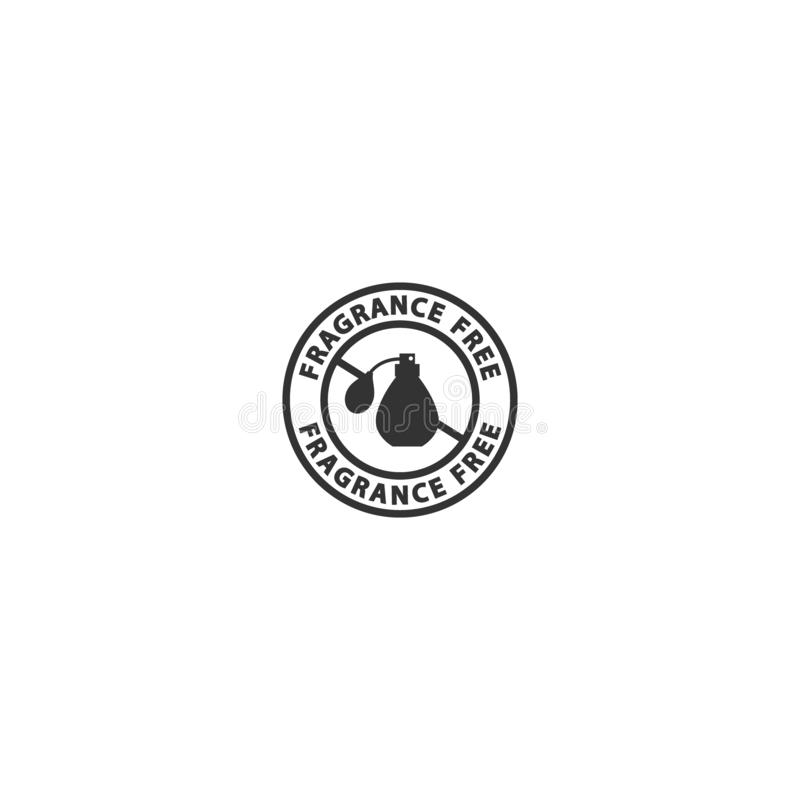 Fragrance free vector black circle stamp. royalty free illustration