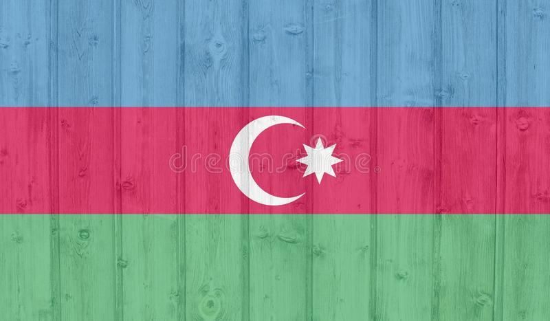 Azerbaijan flag royalty free illustration