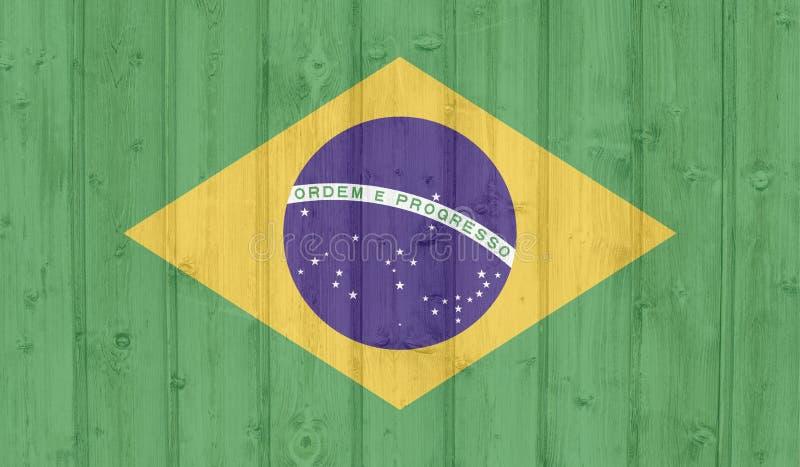 Brasil flag stock illustration