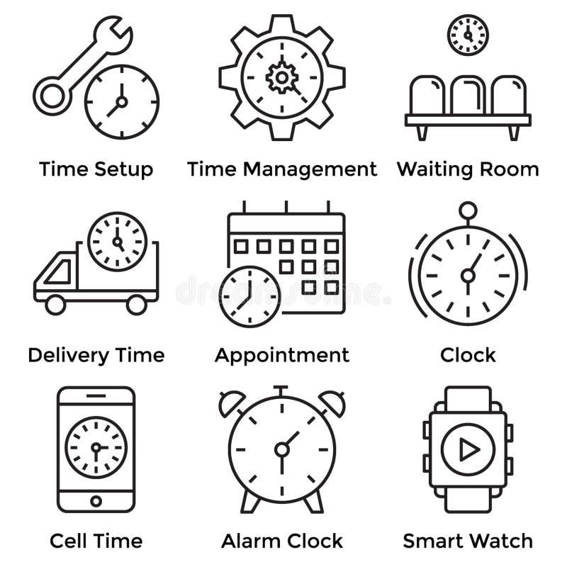 Clock Line Icons vector illustration