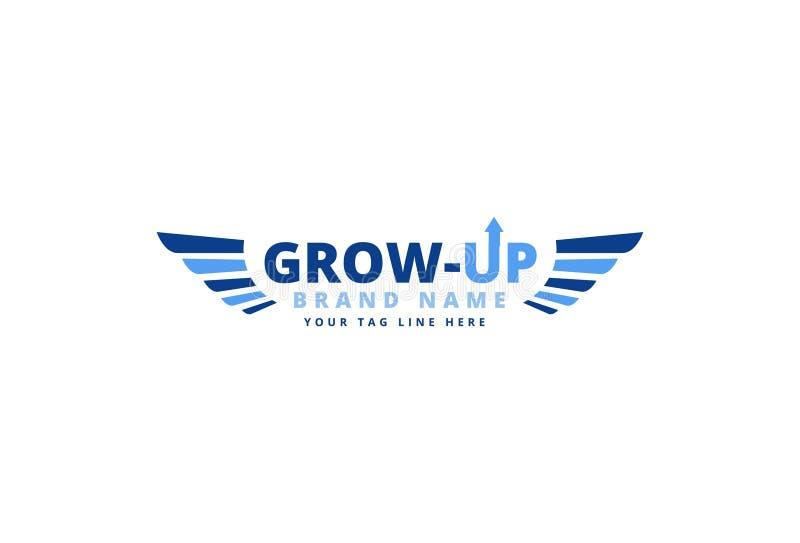 Business logo design royalty free illustration